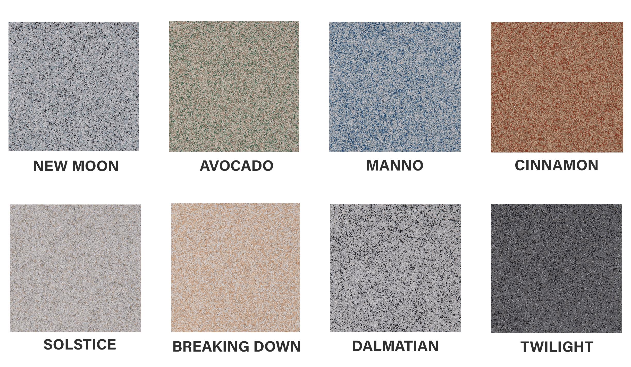 Charte de couleurs quartz