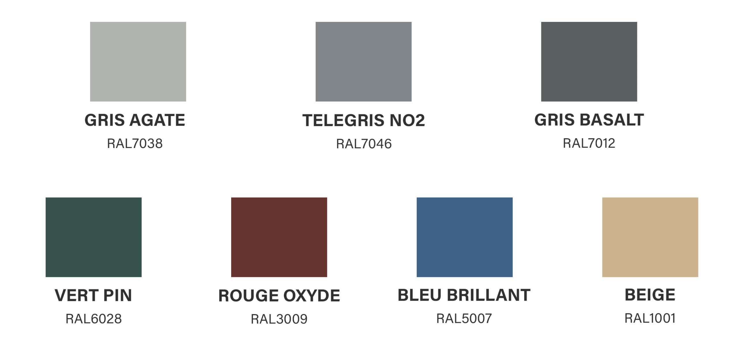 Charte de couleur époxy